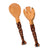 Wood Serving Set, Twisted Giraffe Design