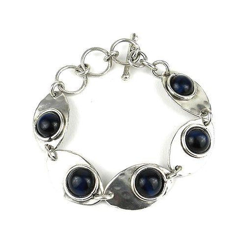 Blue Tiger Eye Link Bracelet