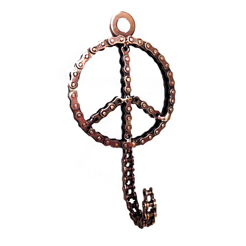 Bicycle Chain Peace Sign Hook