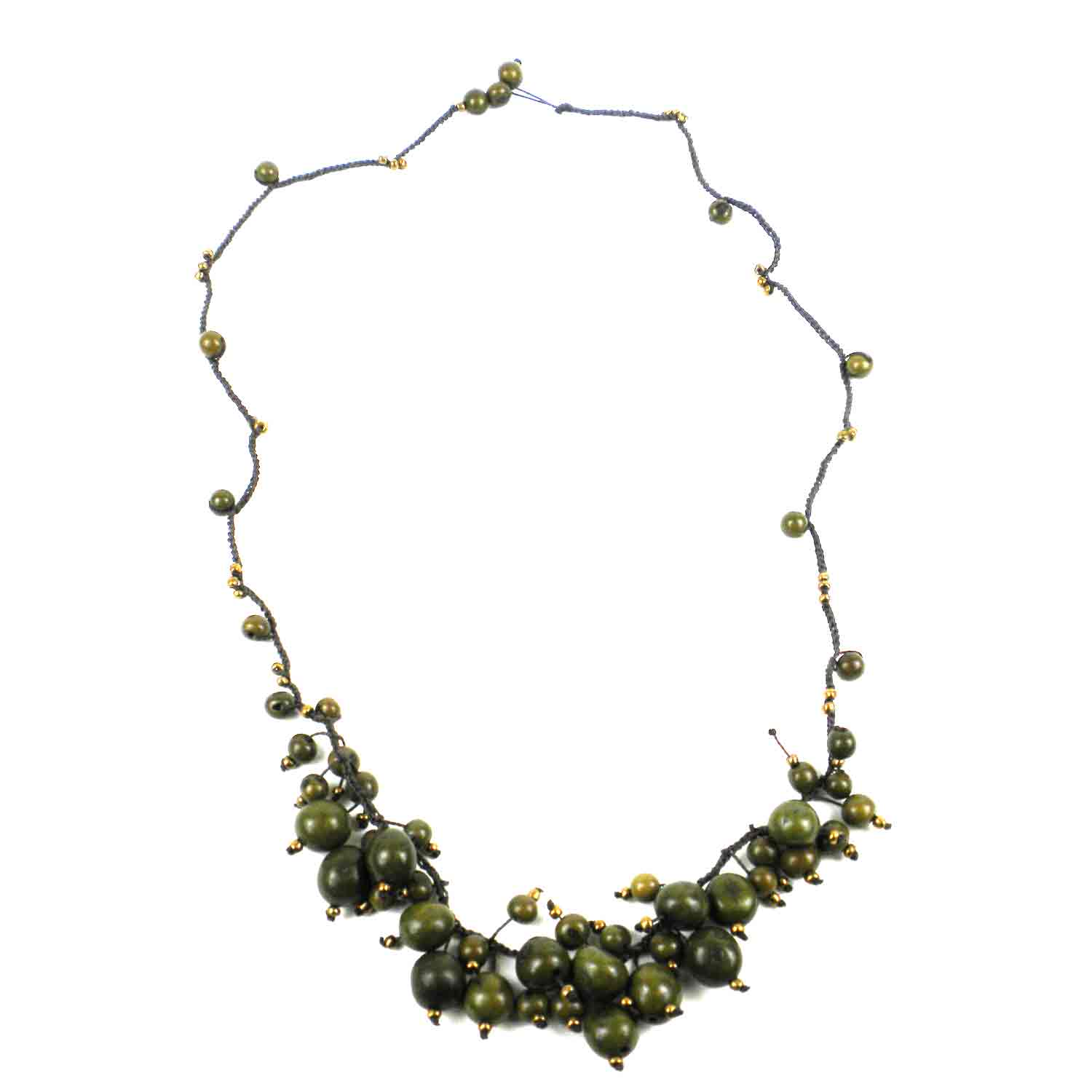 Cloud Forest Necklace in Malachite- Faire Collection