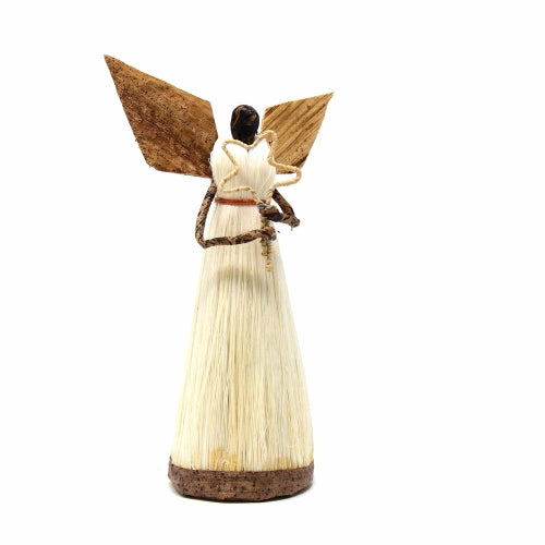 5 Inch Sisal Angel Ornament, Star