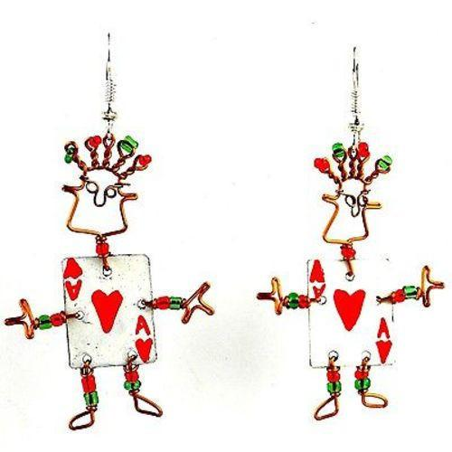 Dancing Girl Card Player Earrings