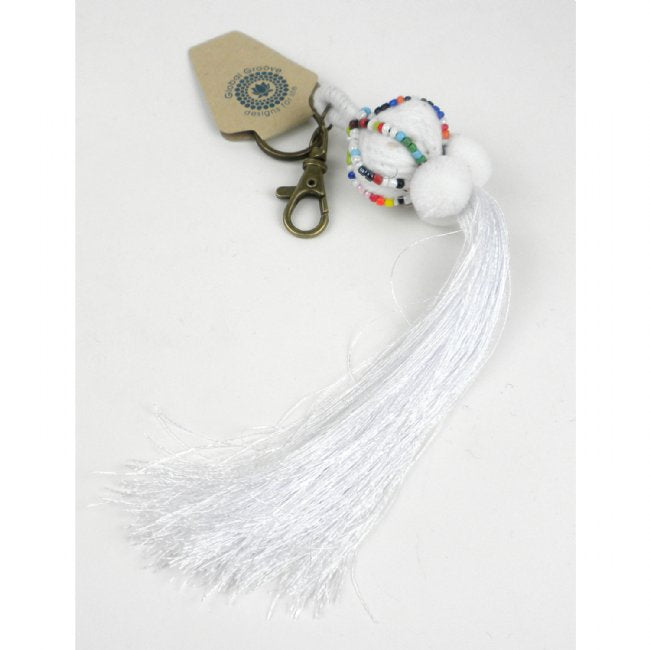 Boho Keychain Collection Lisu, White