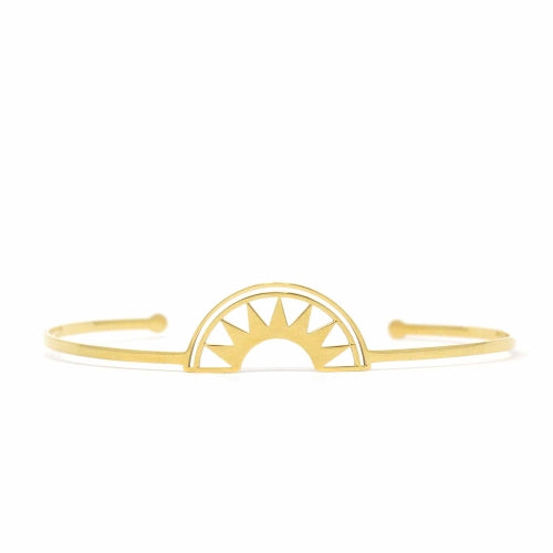 Dawn - Rising Sun Golden Cuff Bracelet