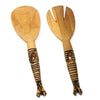 Wood Serving Set, Twisted Zebra Design
