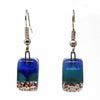 Small Rectangular Glass Earrings - Specific Colors