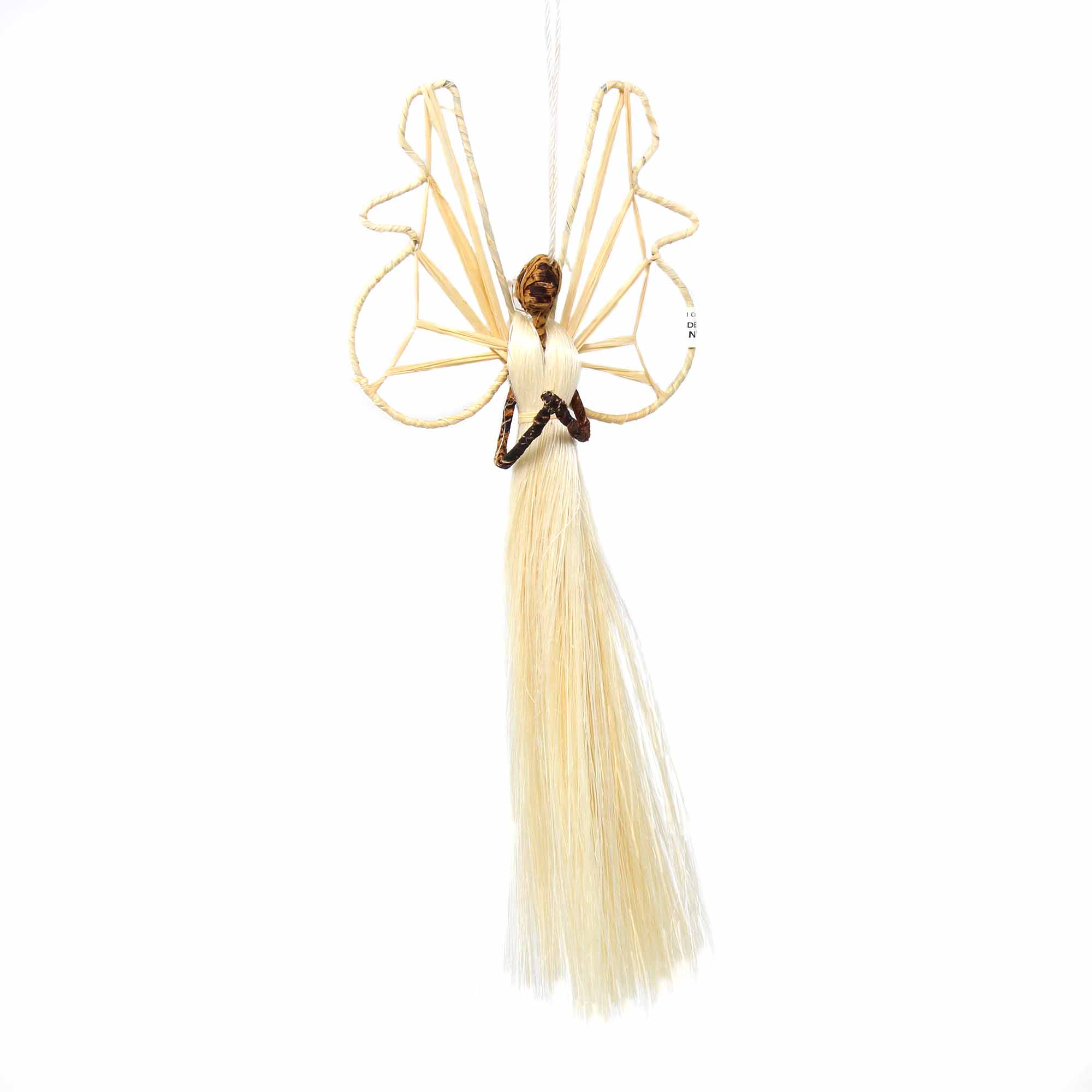 9 Inch Sisal Angel Ornament, Prayer