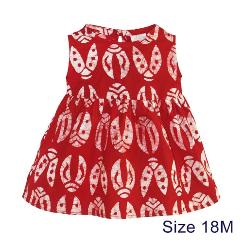 Babies Sundress Bugs Red 18M