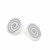 Alpaca Silver Spiral Stud Earrings