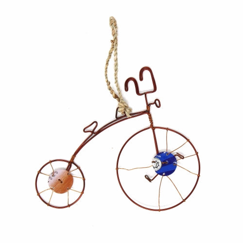 Recycled Wire Old-Fashioned Bicycle Ornament