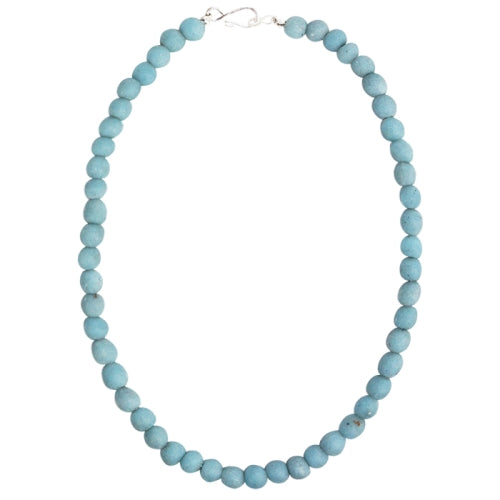 Global Mamas Glass Pearls Necklace - Light Blue