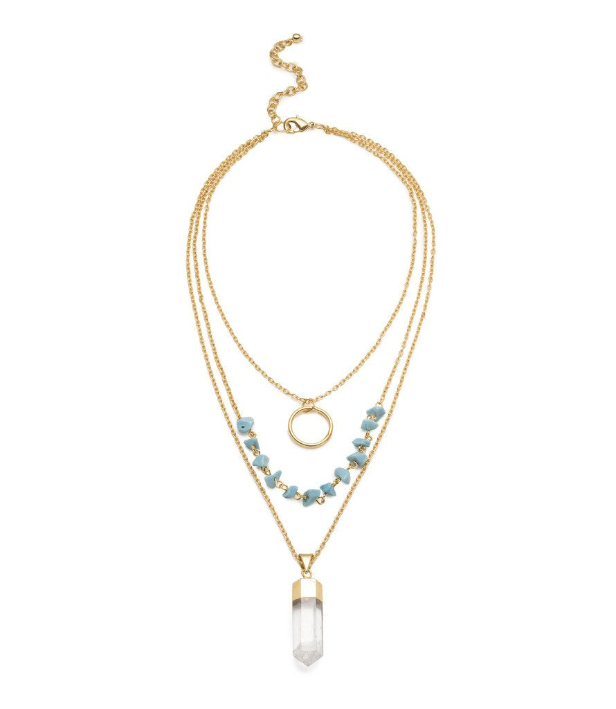 Indira Crystal Cascade Necklace