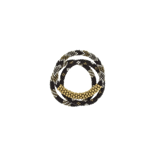 Statement Roll-On Bracelets, Black Sun