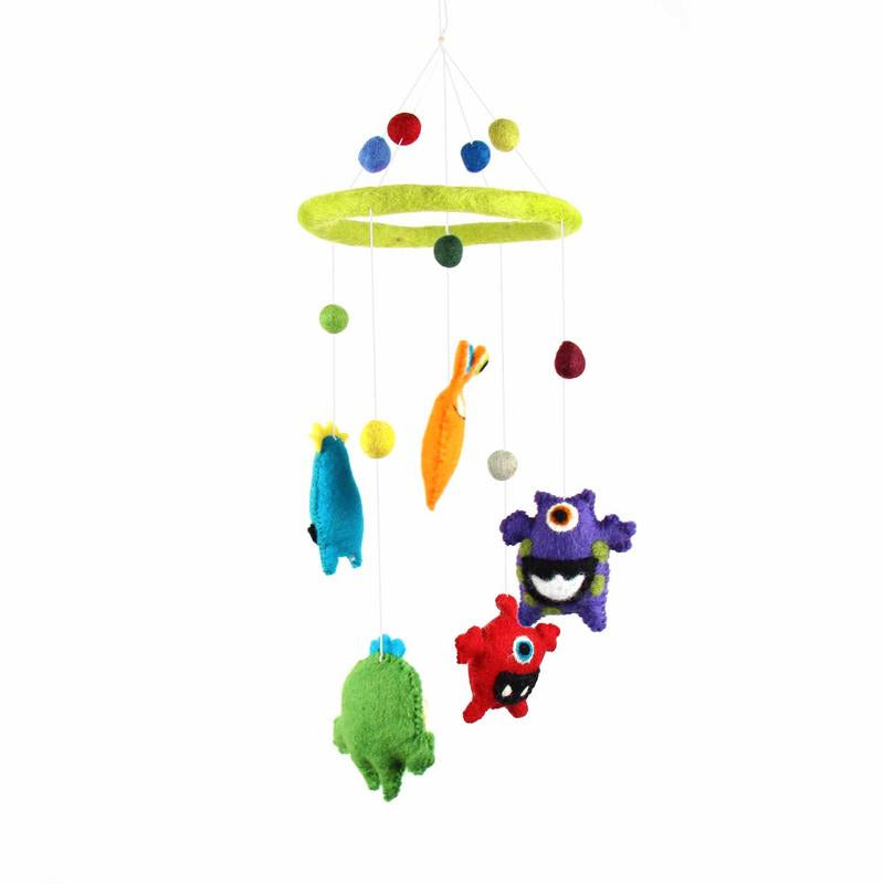 Monsters Felt Nursery Mobile