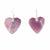Mother-of-Pearl Pink Heart Earrings