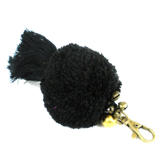 Boho Keychain Collection Uber Pom Pom, Black