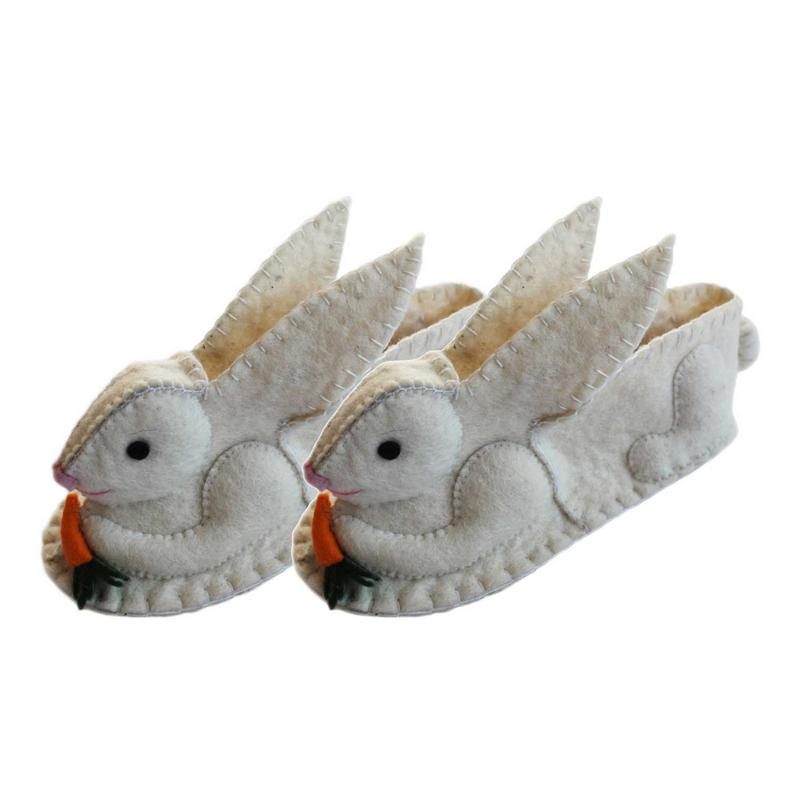 Rabbit Slippers Adult Small