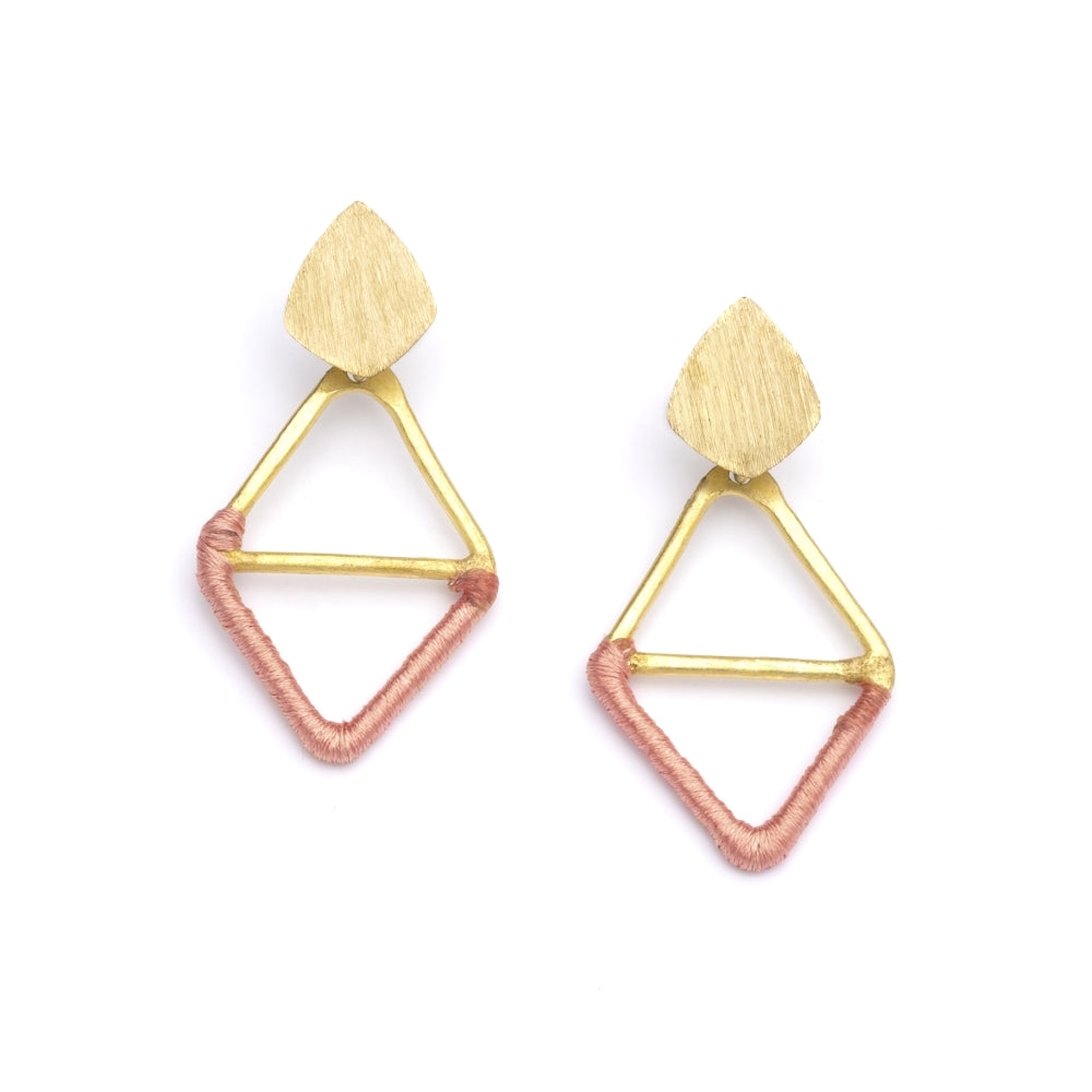 Kaia Earrings - Orange Diamond
