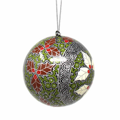 Handpainted Ornaments, Silver Chinar Leaves - Pack of 3