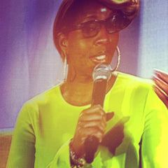 Mary J. Blige speaking at Young Women's Conference