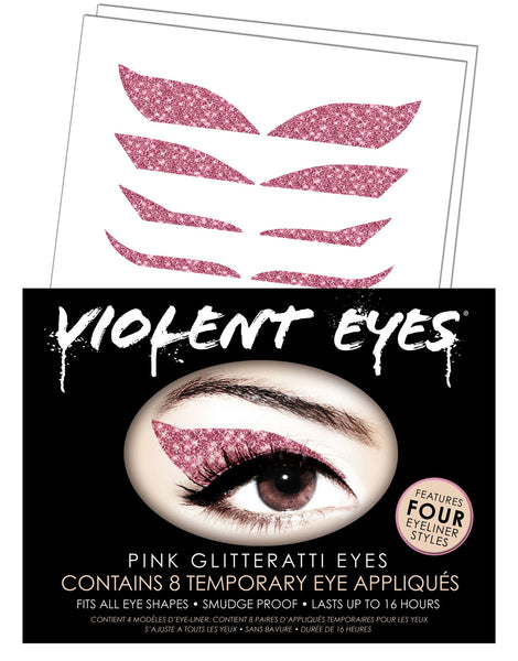 Violent Eyes - Pink Glitteratti