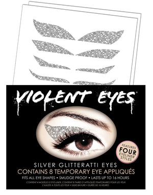 Violent Eyes - Silver Glitteratti