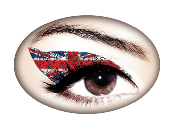 Violent Eyes - Union Jack Glitteratti