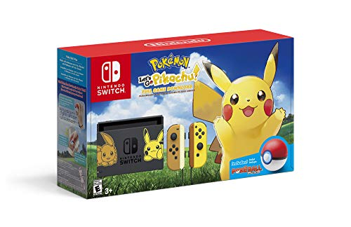 Nintendo Switch Console Bundle- Pikachu & Eevee Edition with Pokemon: Let's Go, Pikachu! + Poke Ball Plus - Name Your Joy