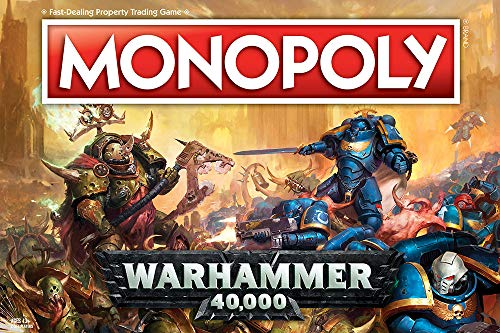 Monopoly Warhammer 40,000 Board Game | Based on Warhammer 40,000 from Games Workshop | Officially Licensed Warhammer 40,000 Merchandise | Themed Classic Monopoly Game - Name Your Joy