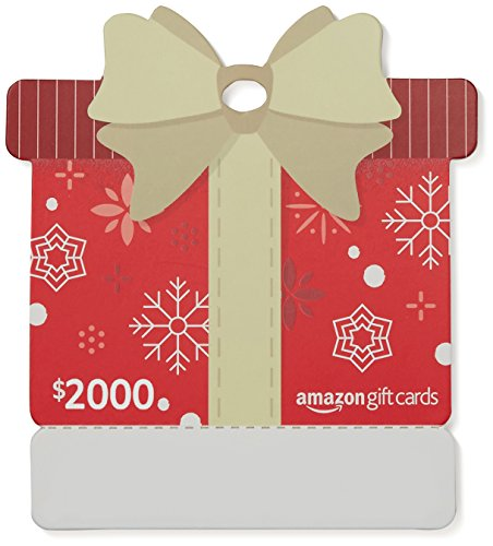 Amazon.com $2000 Gift Card with GUND Holiday 2017 Teddy Bear - Limited Edition - Name Your Joy