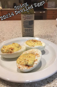 Spicy DD214 Deviled Eggs