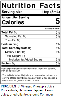 Castaway Nutrition Facts & Ingredients
