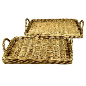 Willow cane serving tray