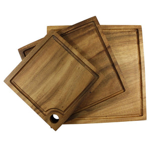 Acacia Square Board w Hole