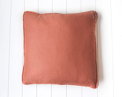 Linen Feather Cushion 50x50