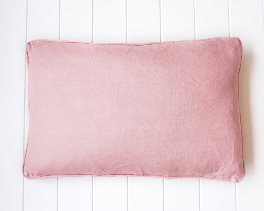 Linen Feather Cushion 60x40