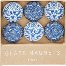 Load image into Gallery viewer, Glass Magnets Set 6