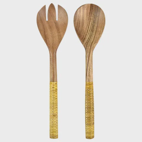 SALAD SERVERS Yellow Set
