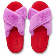 Load image into Gallery viewer, Pink & Red Fluffy Slippers