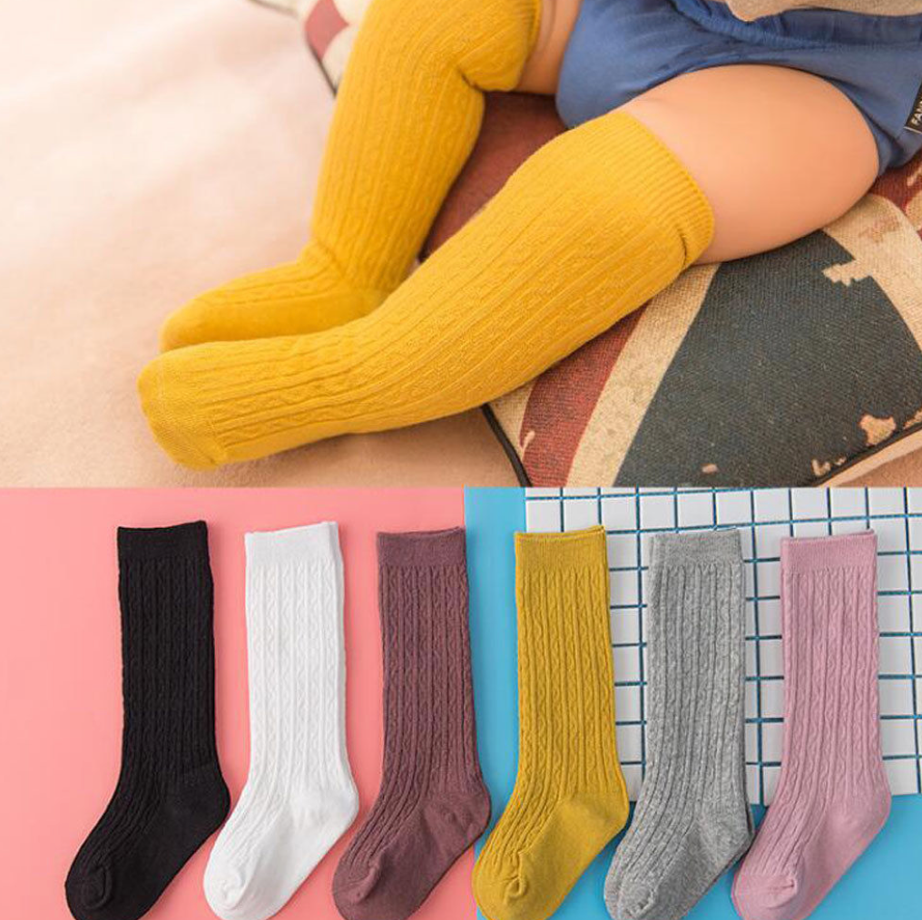 Knee-High Cotton Socks