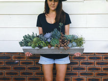 Load image into Gallery viewer, 60cm Long Artisan Concrete Succulent Planter