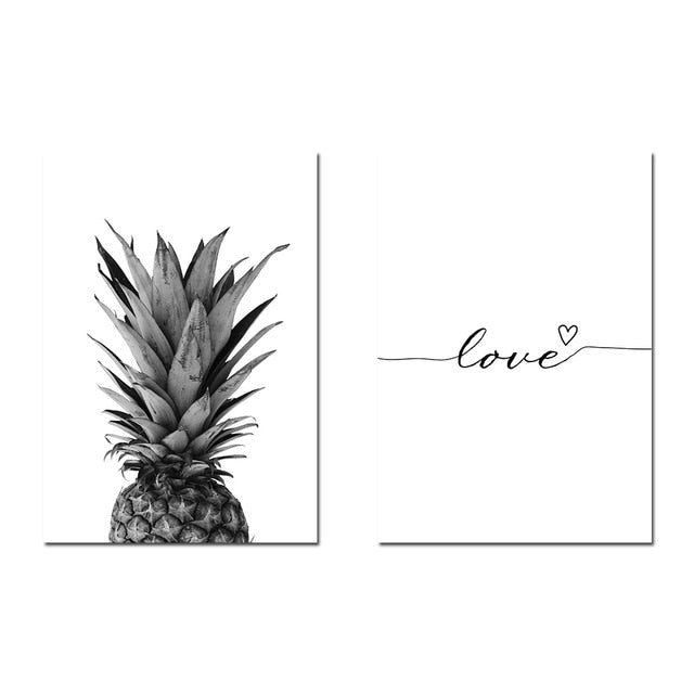 Pineapple Wall Art Canvas Posters