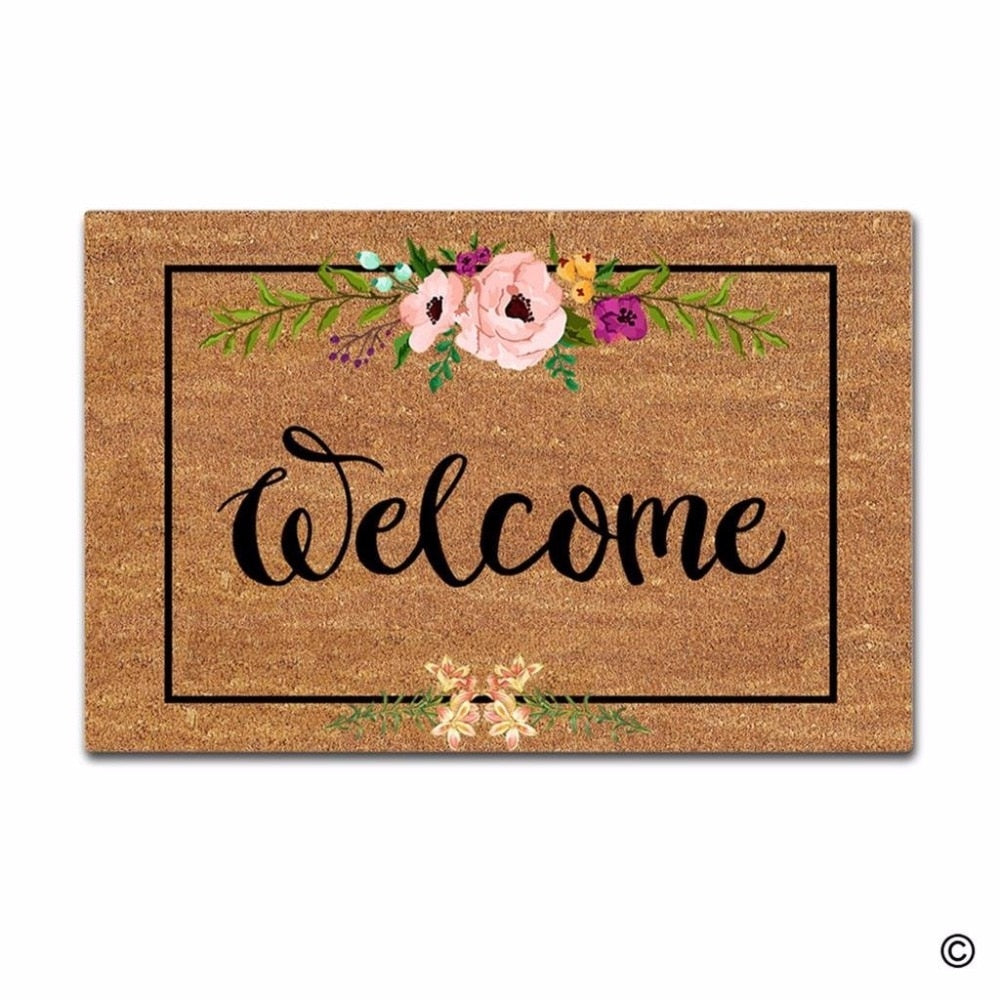 Welcome Flowers Doormat