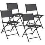 Set of 4 Outdoor Camping Deck Garden Folding Chairs