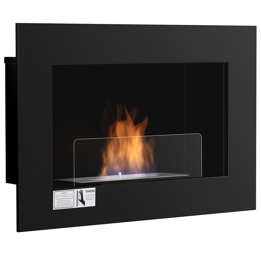 "27.5"" Wall Mounted Ventless Hanging Fireplace"