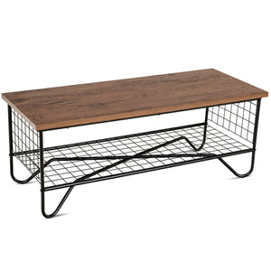 Coffee Accent Cocktail Sofa Side Table Solid Metal Frame