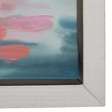 "Flamingo Lake White 22""x42"" Frame by Drew Barrymore Flower Home"