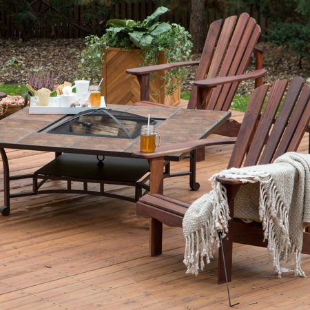 Belham Living Richmond Deluxe 5 Piece Adirondack Chair Fire Pit Chat Set