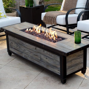 Belham Living Augusta Metal Gas Fire Pit Chat Set