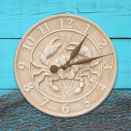 Whitehall Crab Sealife Outdoor Wall Clock
